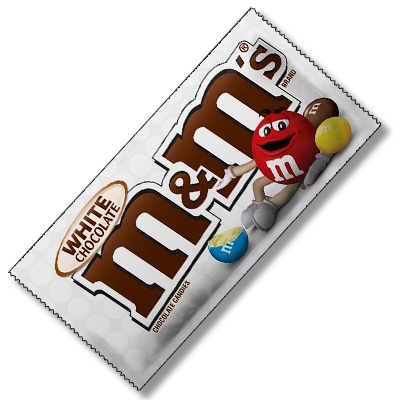 M&M's au chocolat blanc (42g)