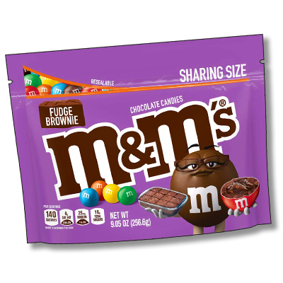 "M&M's ""Fudge Brownie"" sachet énorme (257g)"