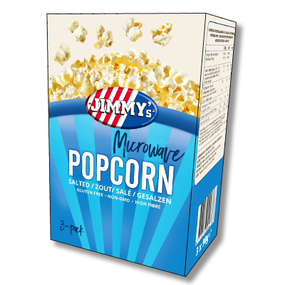 Jimmy's USA Microwave Salty Popcorn (270g)