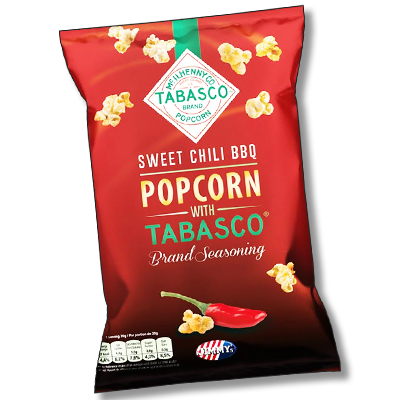 "Jimmy's ""Sweet Chili BBQ"" popcorn Tabasco (90g)"