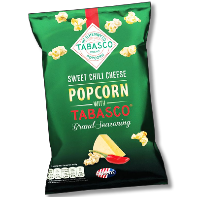 "Jimmy's ""Sweet Chili Cheese"" popcorn Tabasco (90g)"