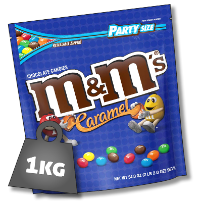 M&M's USA caramel sachet colossal (964g)