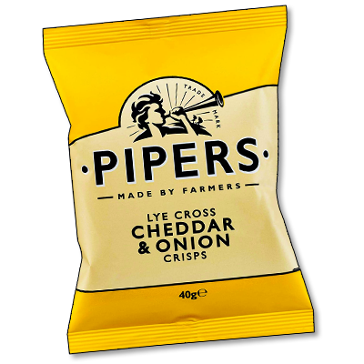 "Pipers Crisps ""Cheddar & Onion"" (40g)"