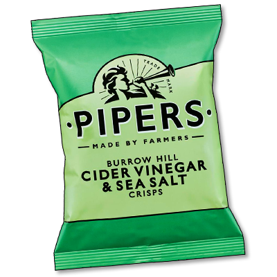 "Pipers Crisps ""Cider Vinegar & Sea Salt"" (40g)"