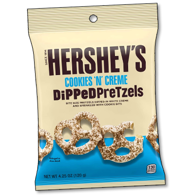 "Hershey's ""Cookies & Cream"" USA Dipped Pretzels (120g)"