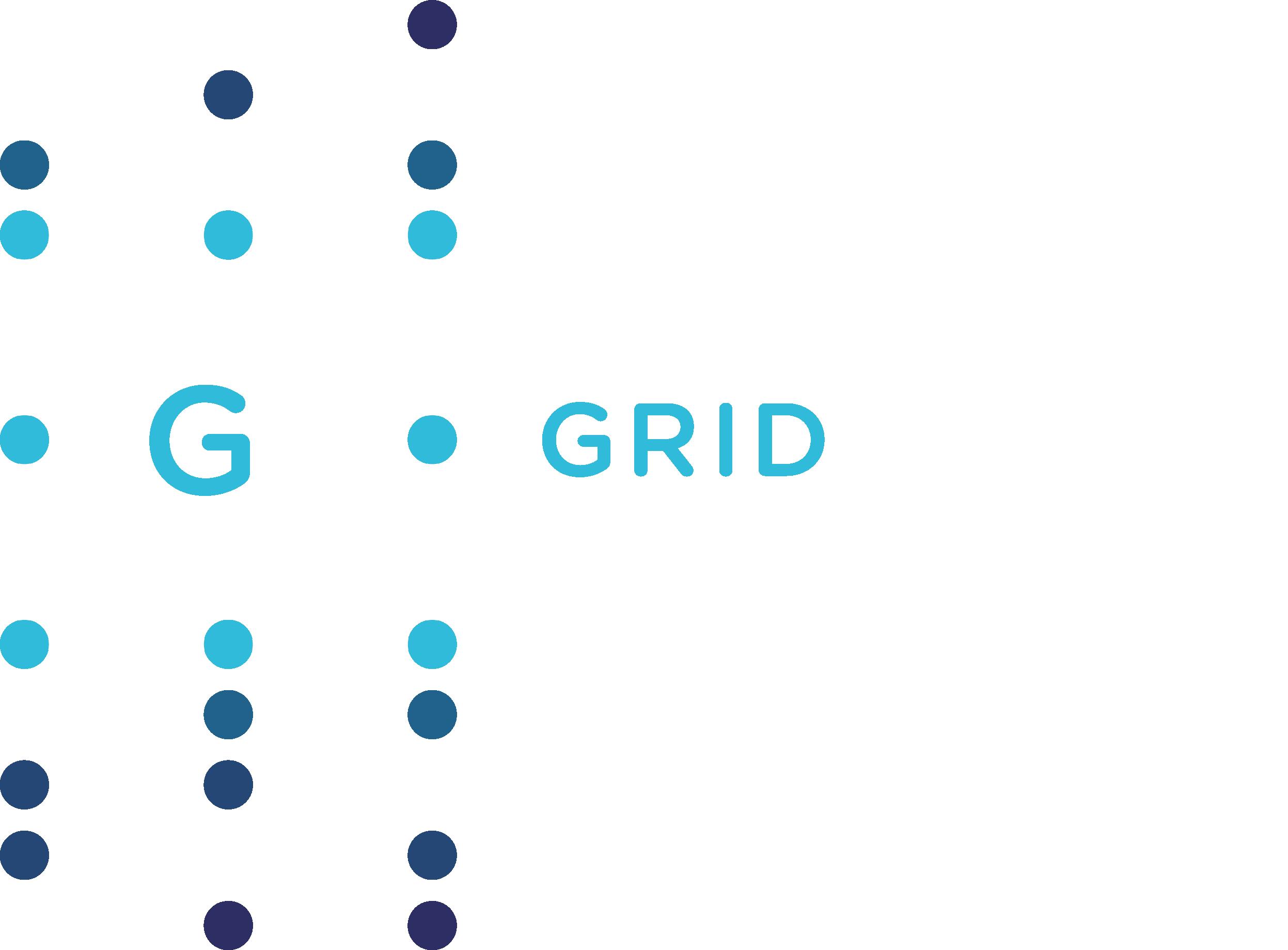 Light and dark blue Intelligent Grid Solutions logo