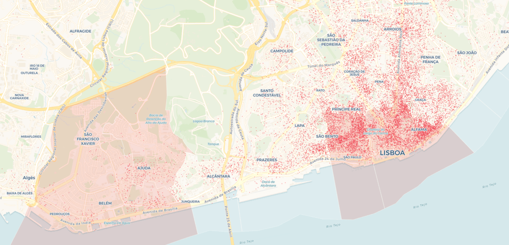 lisbon tourist map