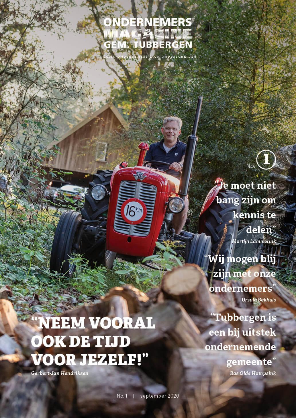 Cover Ondernemersmagazine Gemeente Tubbergen eerste editie