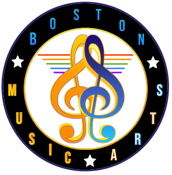 Boston School of Music Arts - Logo describes music gives you wings.