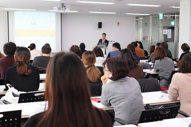 Business school class.
