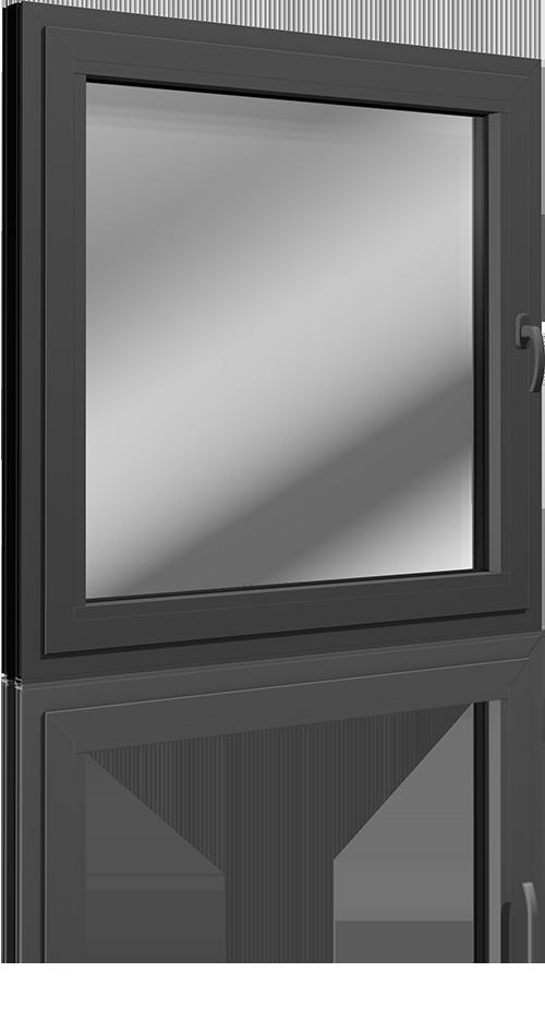 Fenêtre aluminium noir cendré