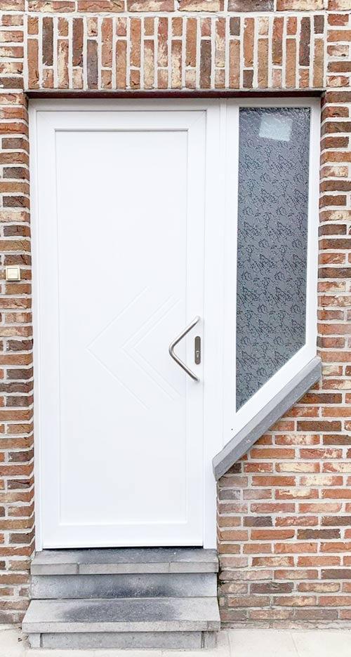 porte entrée pvc blanche