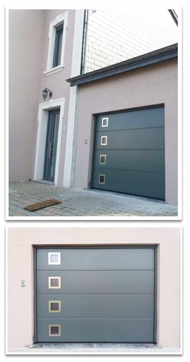 porte garage sectionnelle aluminium