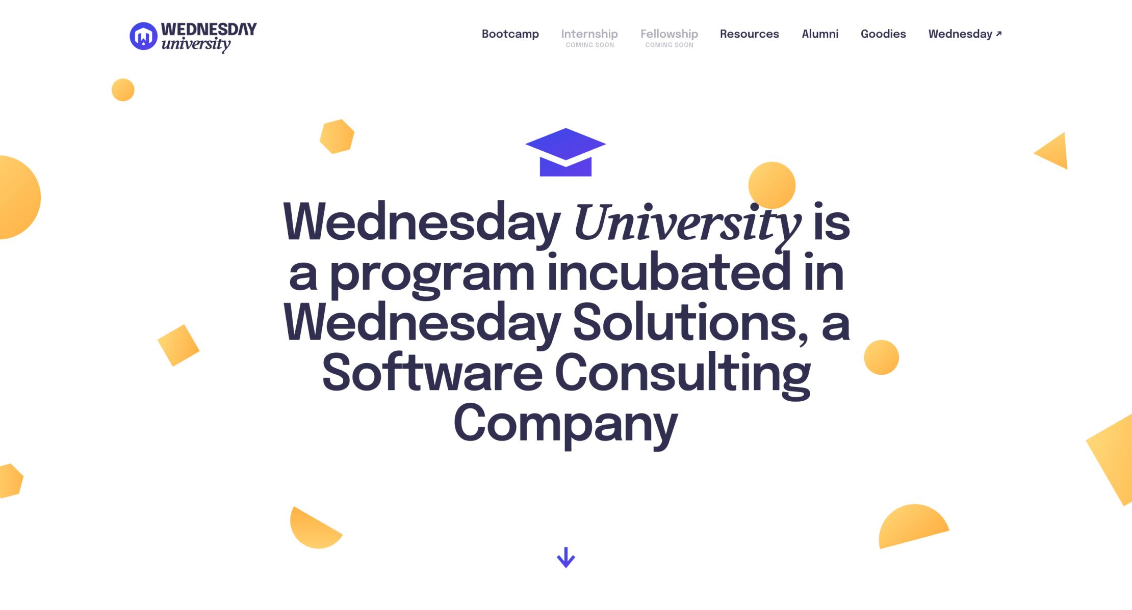Wednesday University Design Case Study - Hero