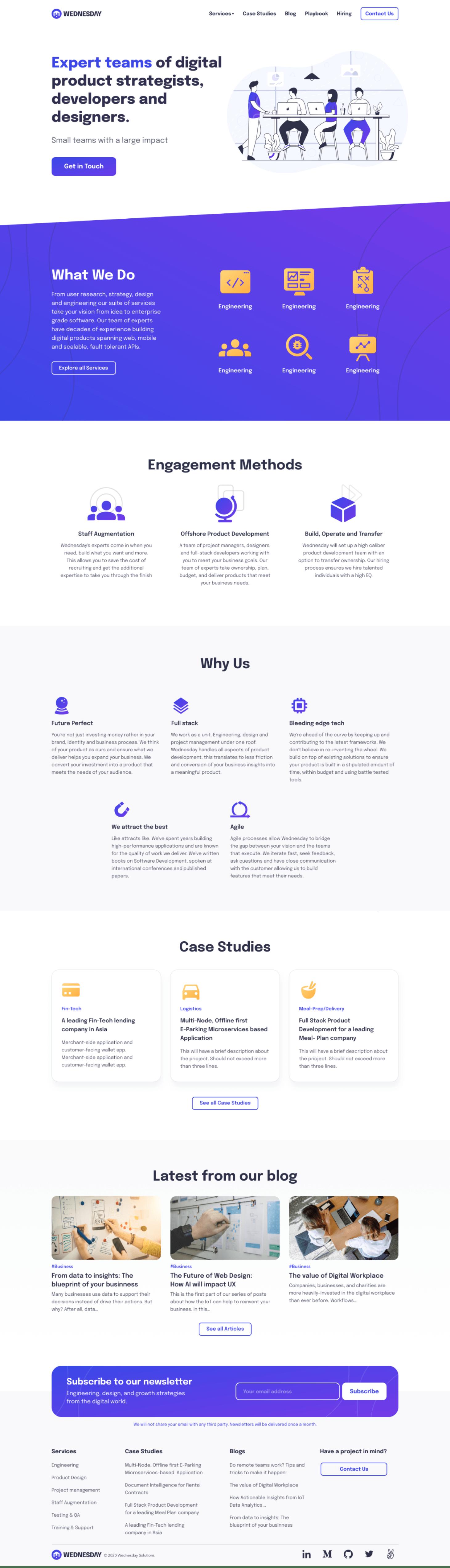 Wednesday Solutions Final Website Design