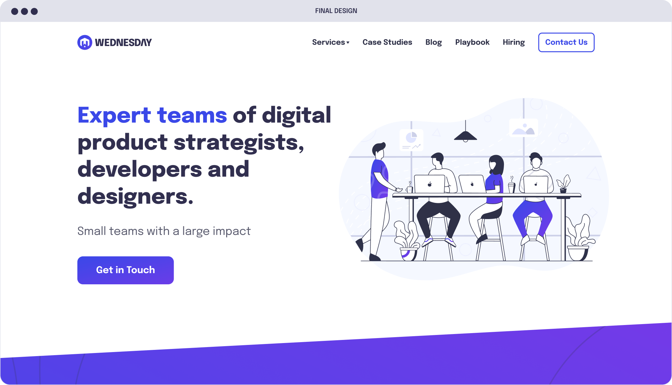 Wednesday Solutions landing page