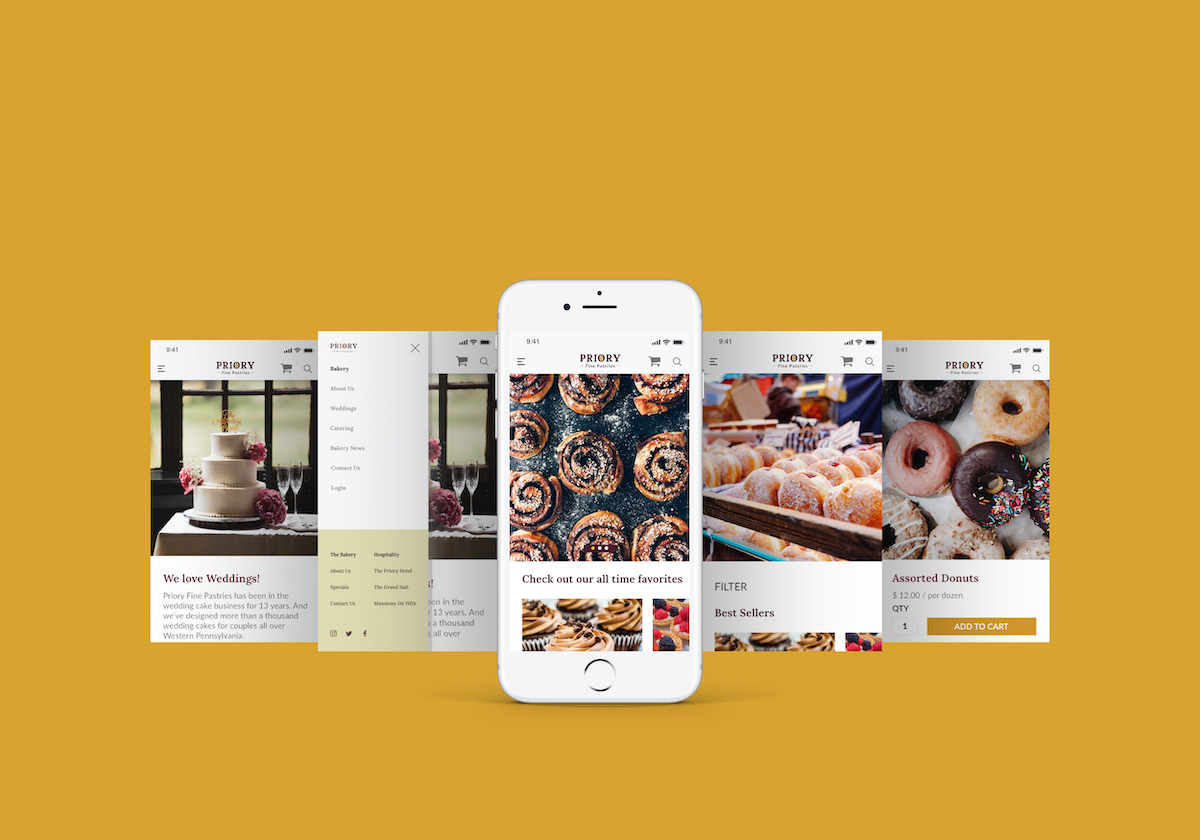 mobile website design for bakery