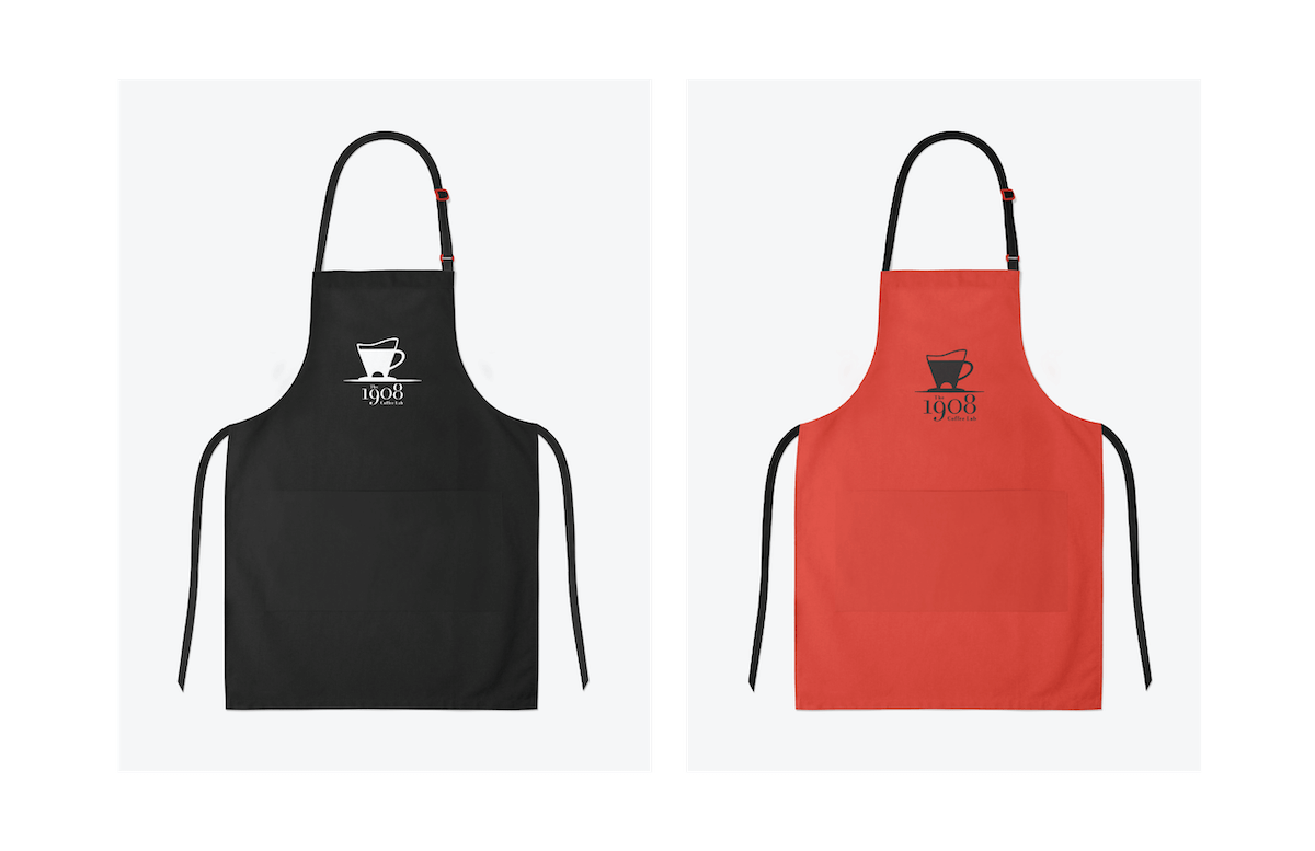 Logo applied to aprons