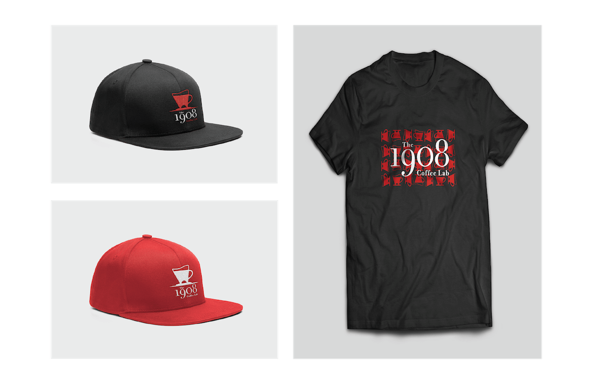 logo applied to hats and t shirts