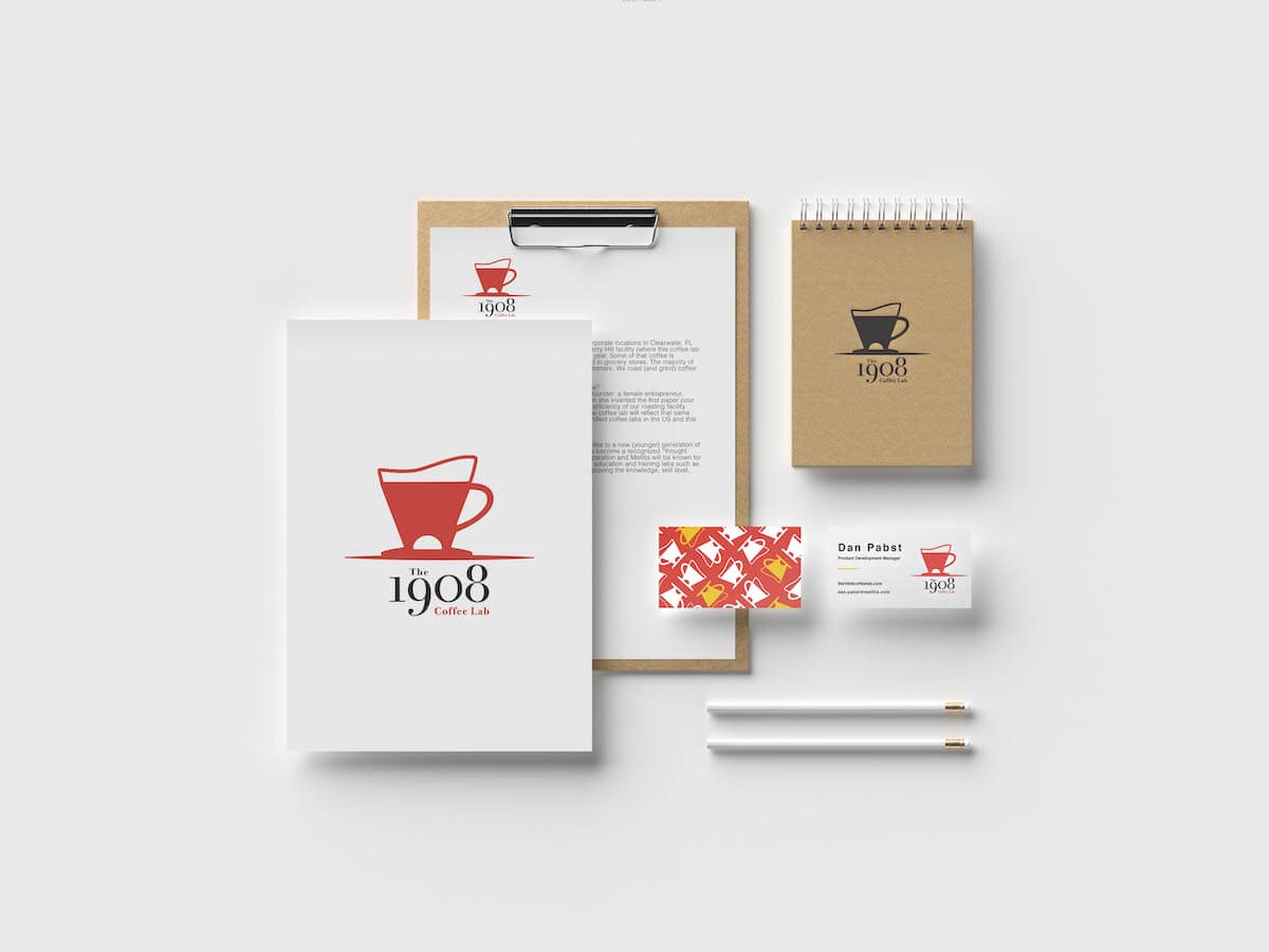 logo applied to business cards letterhead a notebook
