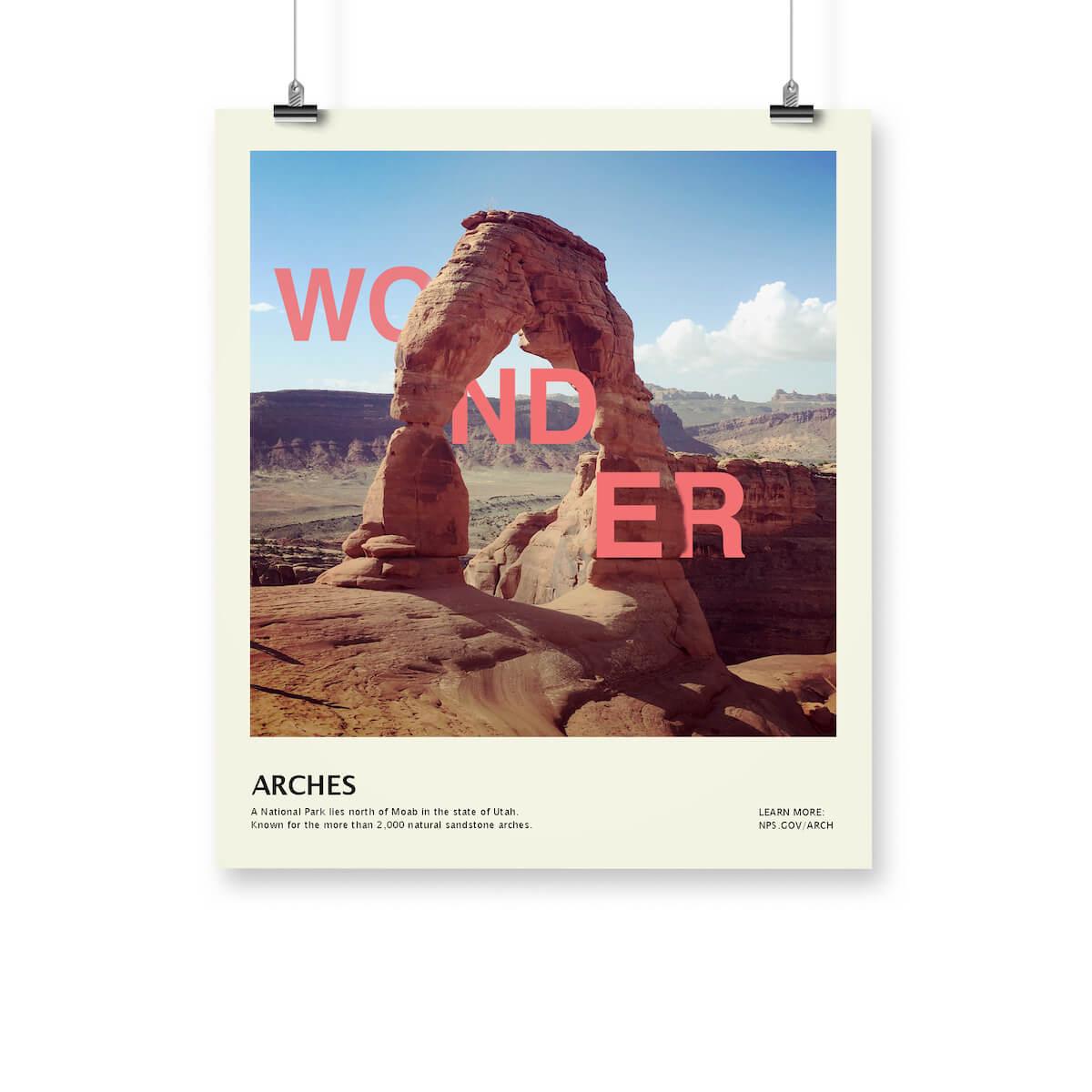 post card of wonder typeweave