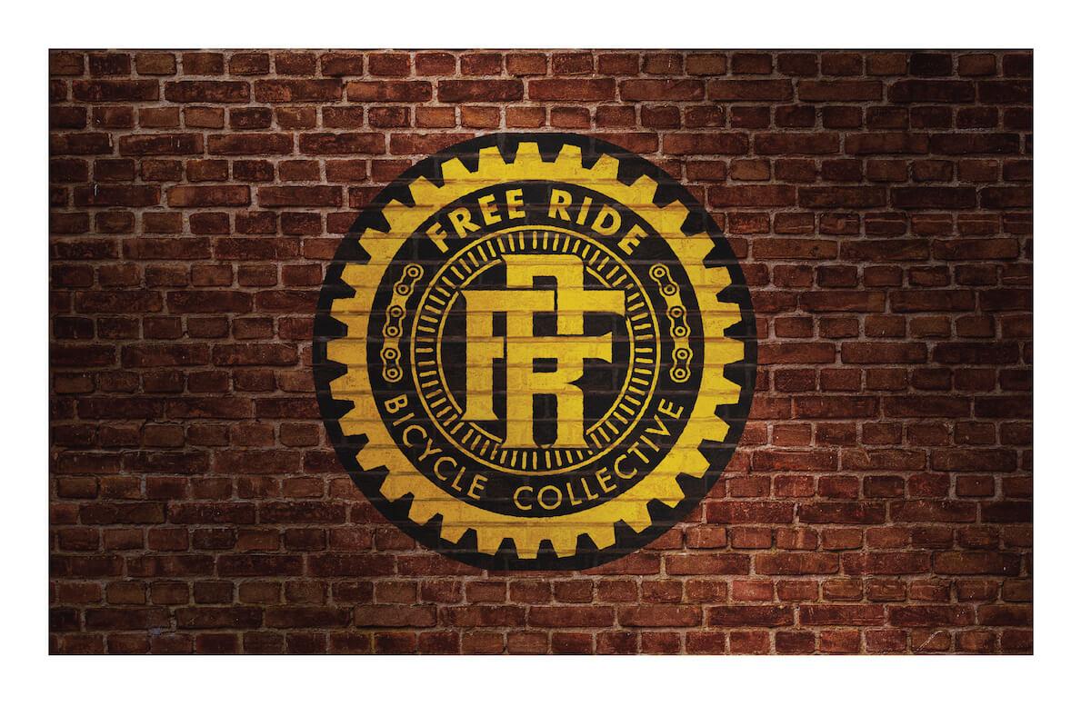 Logo display on brick wall