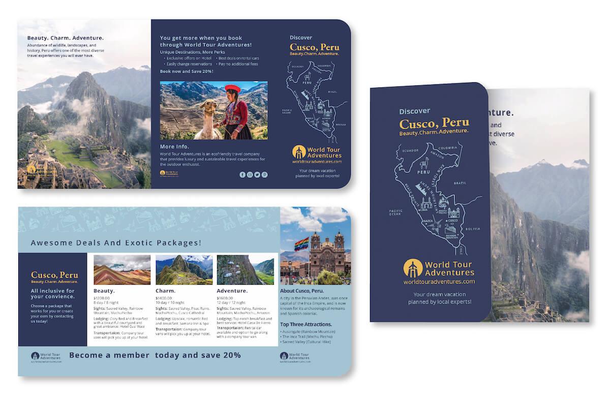 peru travel brochure