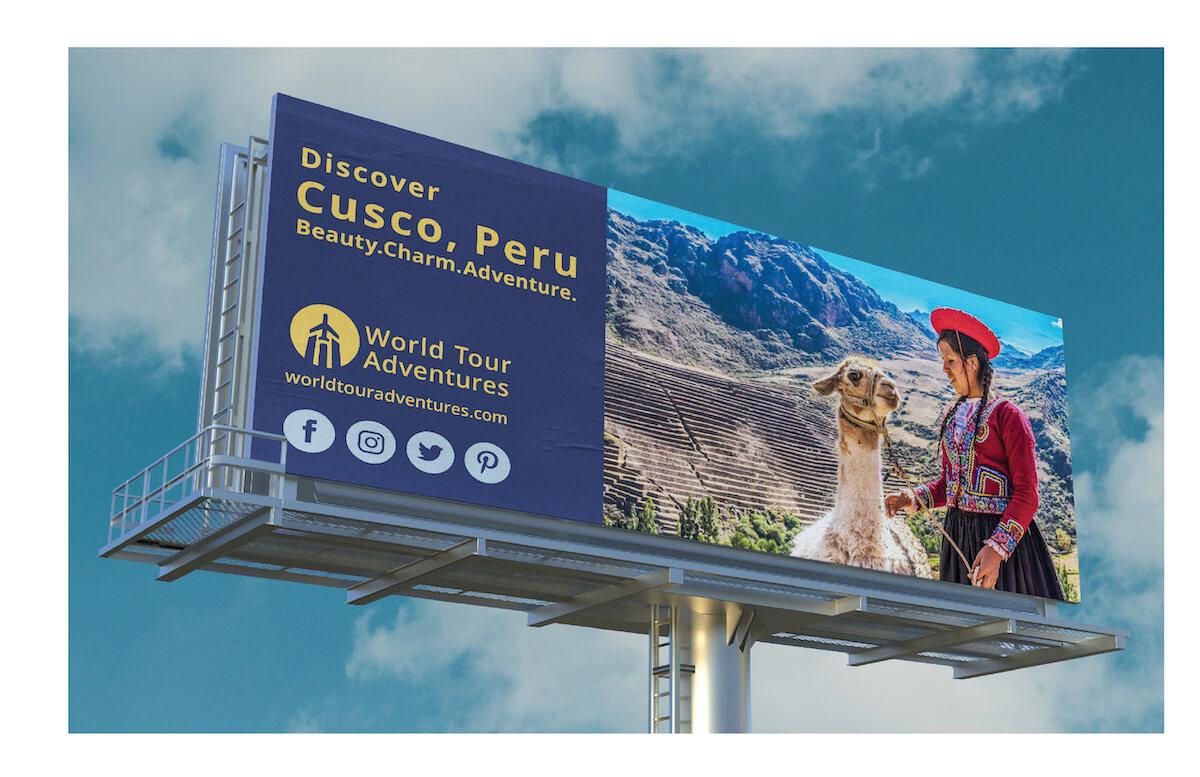 travel peru billboard