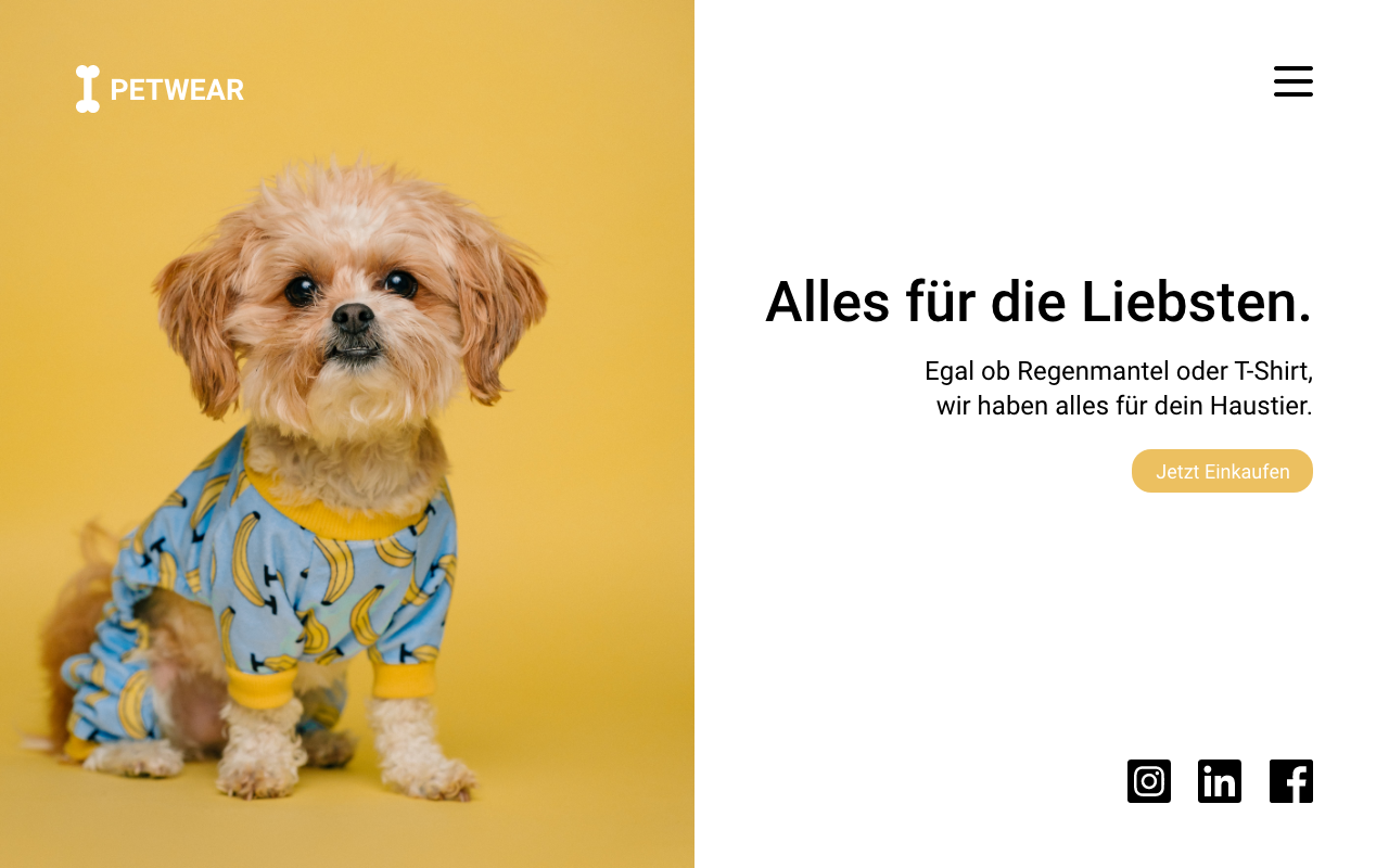 Webseite Beispiel Tierhandel