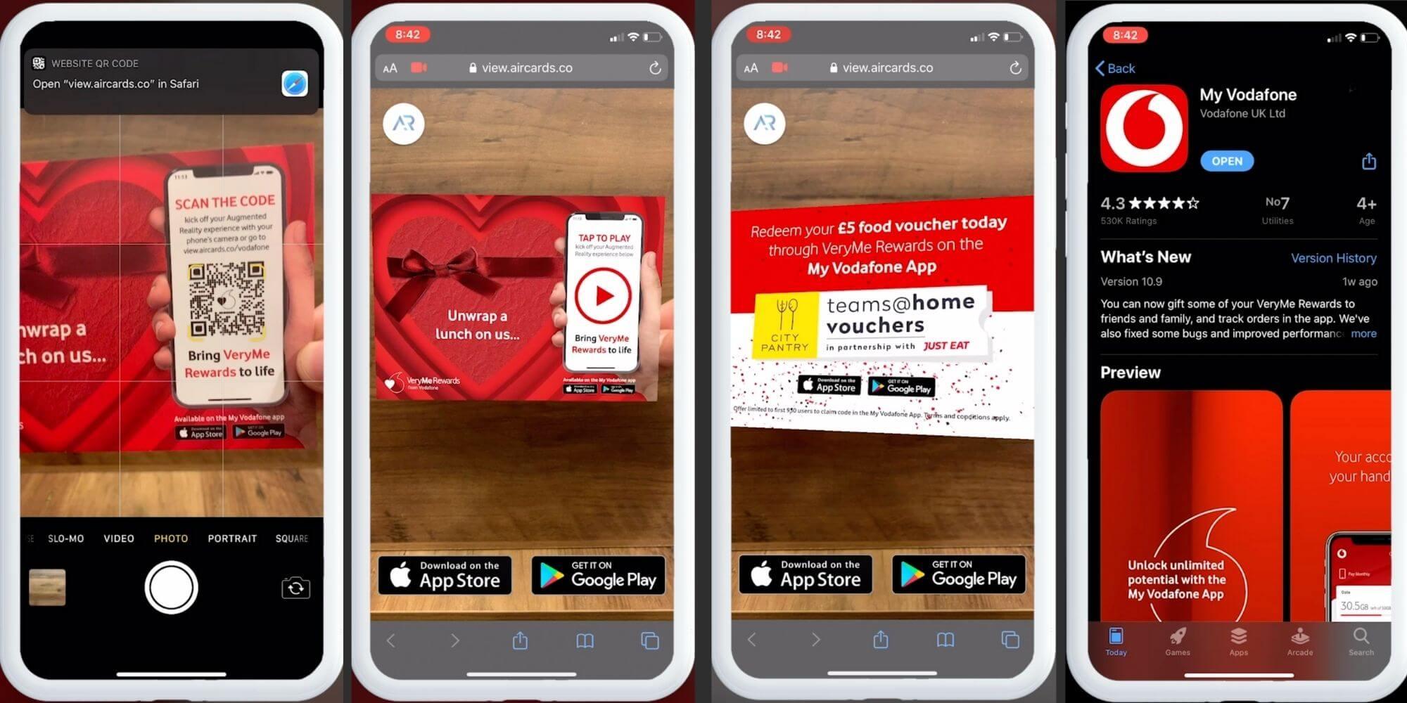 vodafone WebAR Direct Mail Campaign