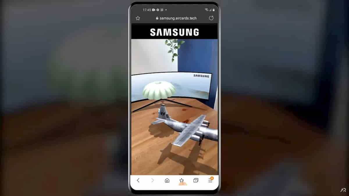 Samsung Web AR Experience
