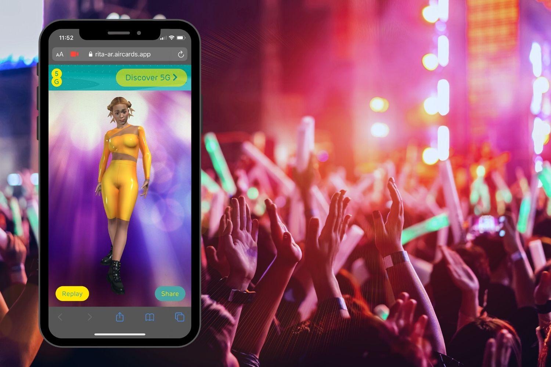 rita ora augmented reality experience