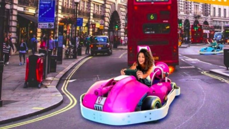 augmented reality go kart london