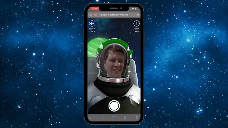 Yondr and Aircards Develop WebAR Space Portal Experience
