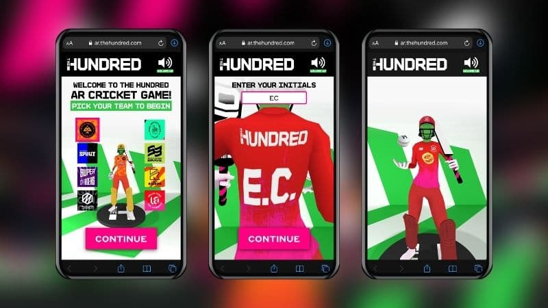 The Hundred Promotes Competition Augmented Reality Cricket Game