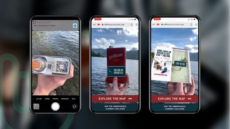 WebAR Connected Packaging Experience
