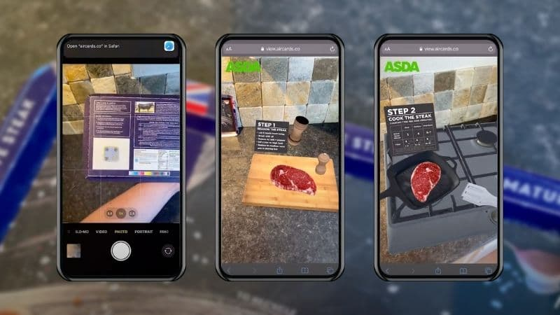 ABP Food Group and ASDA Enlist Aircards to Develop Augmented Reality Cooking Demonstration