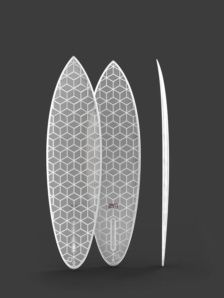 wyvesurf hexa surfboard single fin