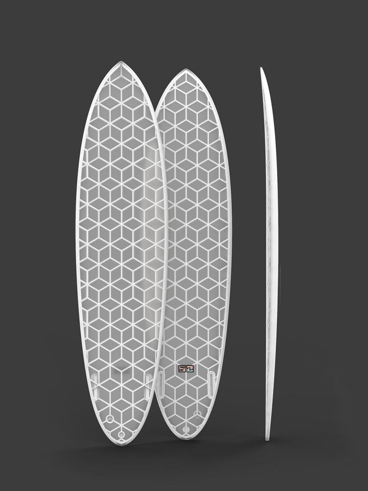 wyvesurf hexa surfboard twin mid