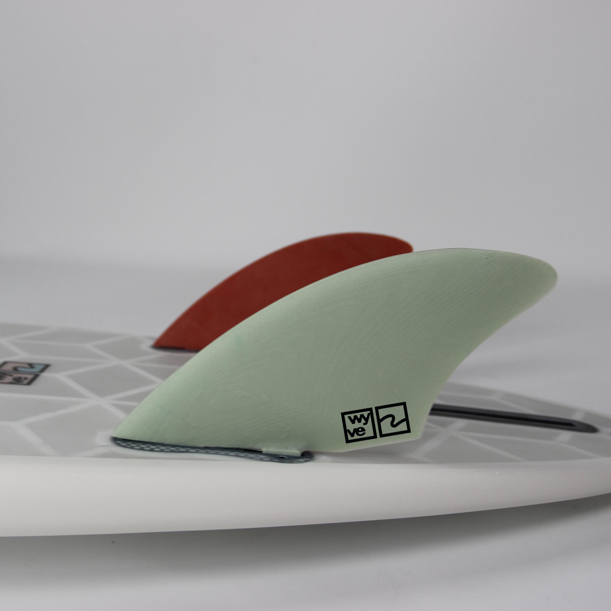 Twin surfboard fins
