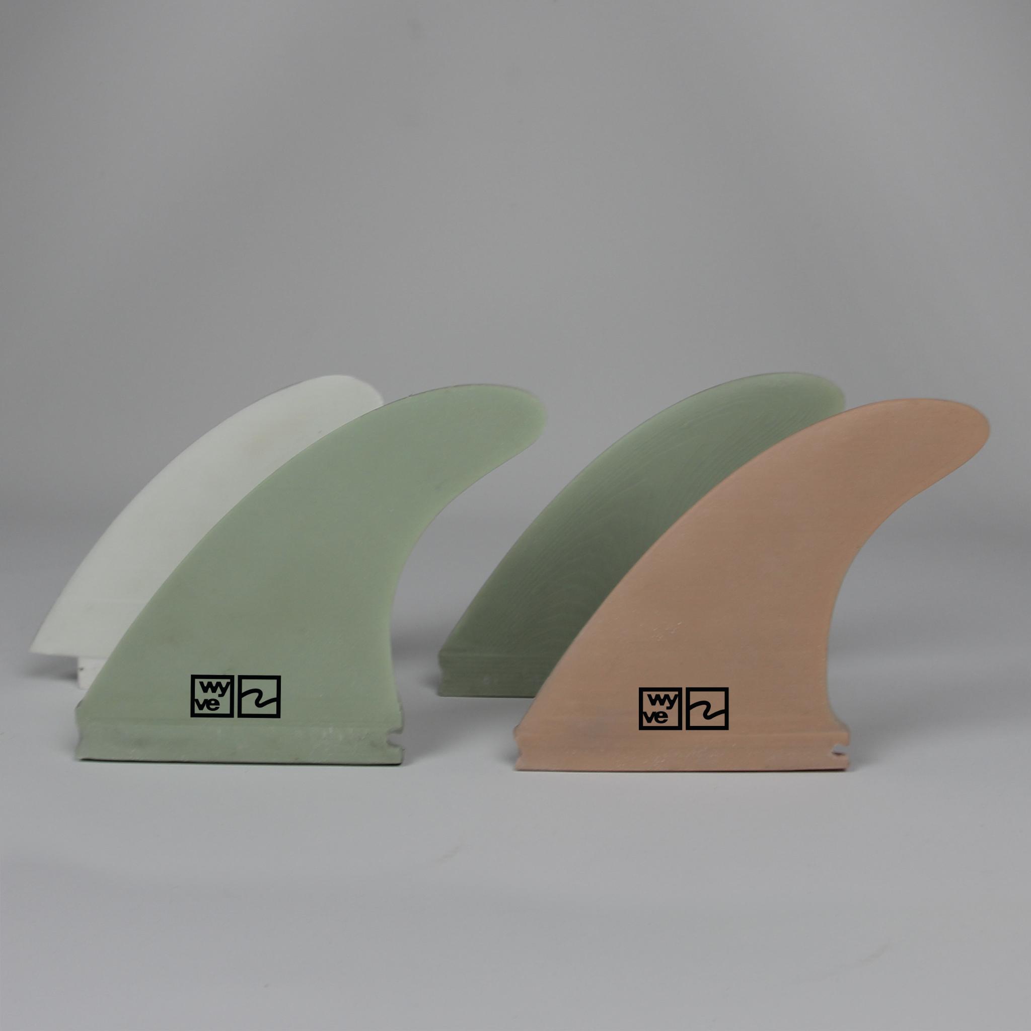 Quad surfboard fins