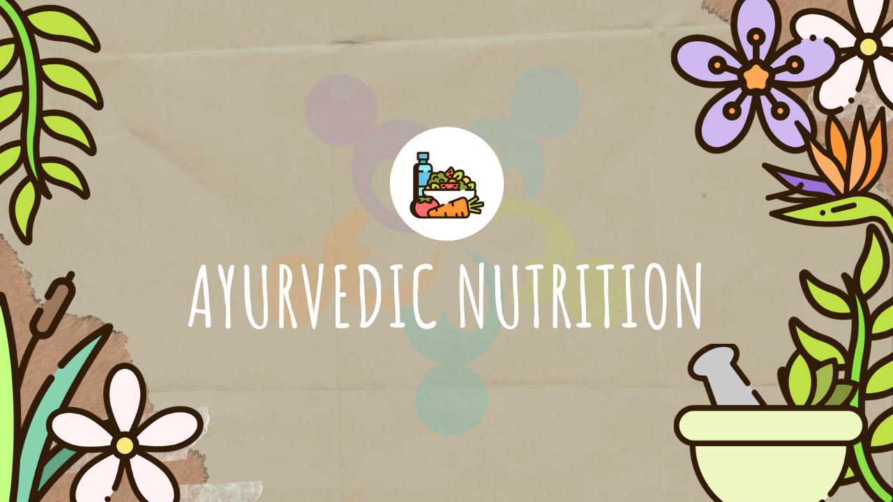 nutrition ayurveda