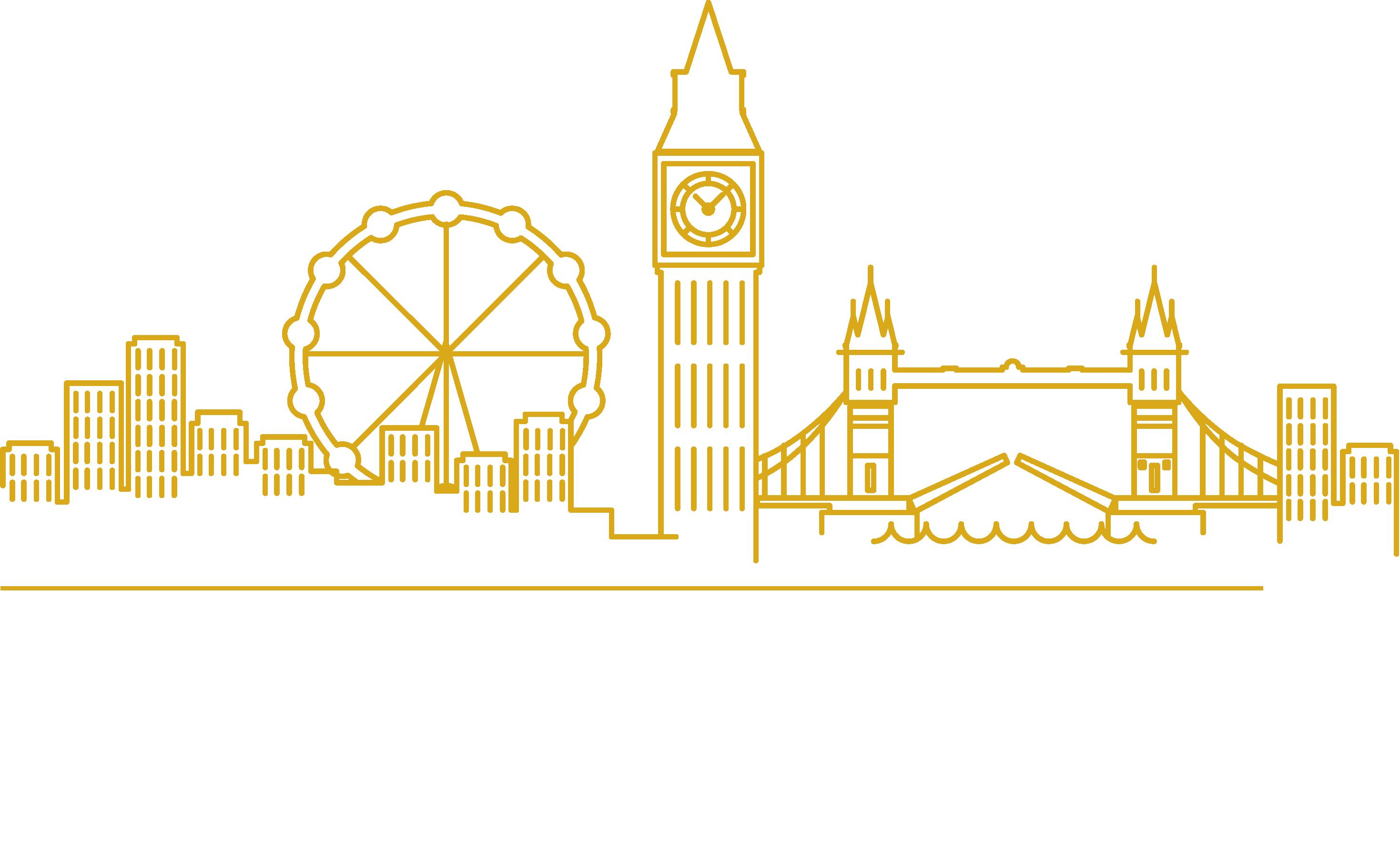 Line illustration of London Skyline