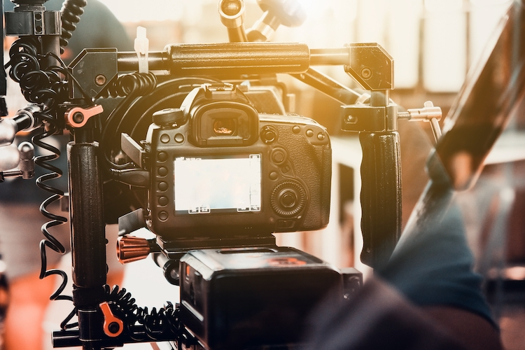 Profesional camera setup for video production