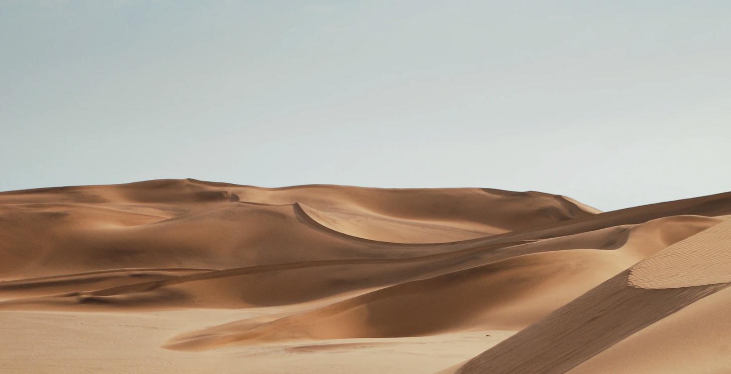 somewhere in the desert