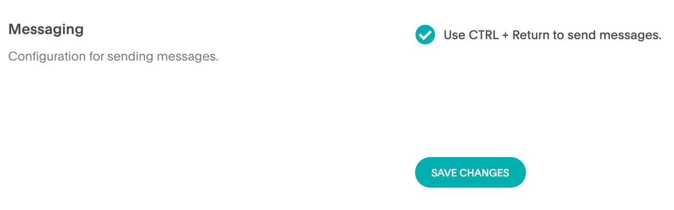 ability to configure the Enter button to send messages