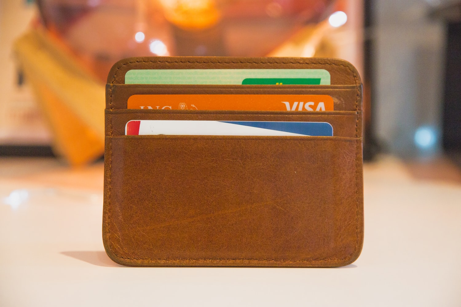 wallet full of various credit cards