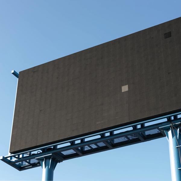 a blank billboard sign