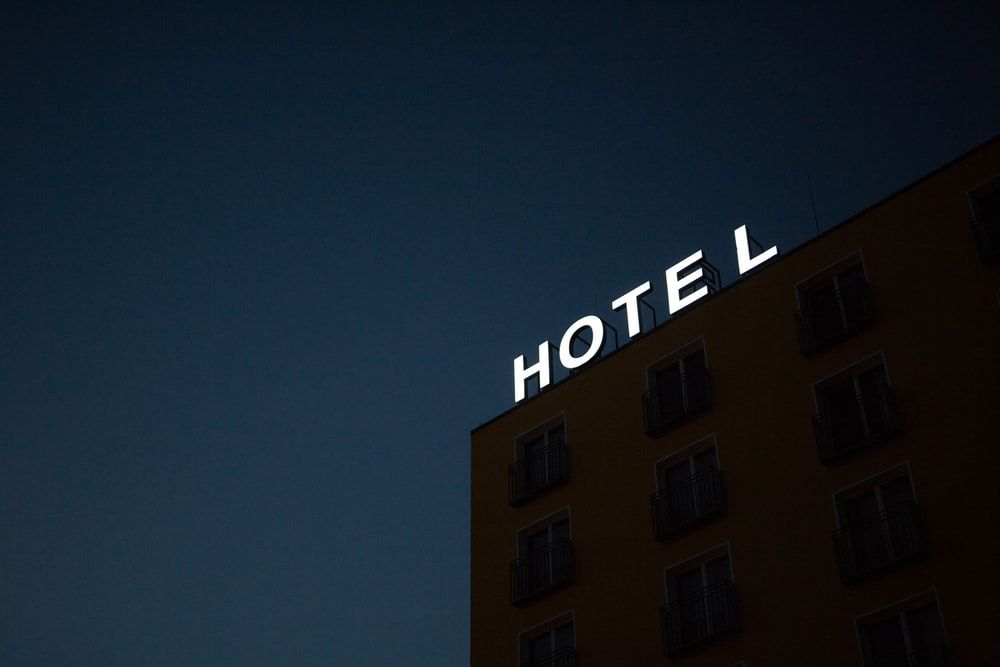 a generic hotel sign