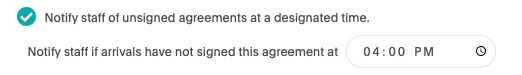 Akia digital agreement notifications